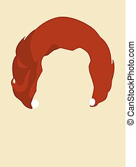 Face Avatar - Brunette woman hair symbol