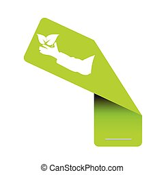sticker eco green vector