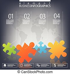 Modern infographic network template with place for your...