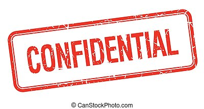 confidential red square grungy vintage isolated stamp