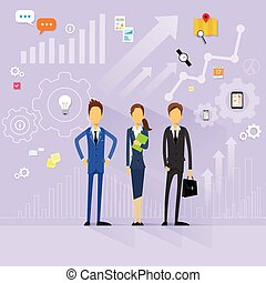 business people team manager human resources flat design vector