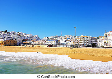 View on Albufeira in the Algarve Portugal