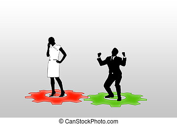 People - Illustration of communication of people by means of...