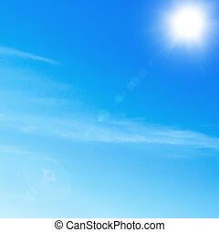Clear sky bright sun Photo clear sky with white, contrasting...