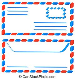 Airmail envelope - Abstract airmail envelope for various...