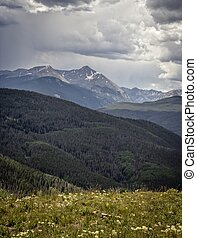 Mountain Storm - Vail Mountain Storm in Vail Colorado
