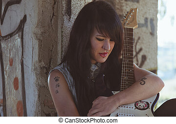portrait of rock chick