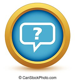 Gold question icon