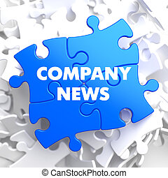 Company News on Blue Puzzle. - Company News on Blue Puzzle...