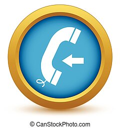 Gold incoming call icon