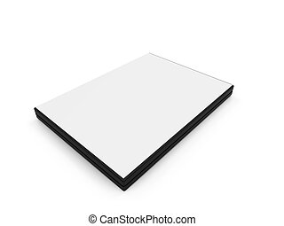 Dvd blank box over white - isolated Dvd blank box over white