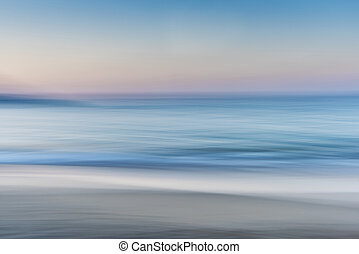 Sea Abstract - Abstract of the Sea Sand and Skyline /...