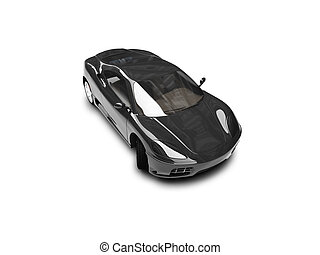 isolated black super car front view 03 - black super car on...