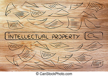 researching about intellectual property, messy business...