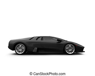 Ferrari isolated side view - isolated sport car on white...