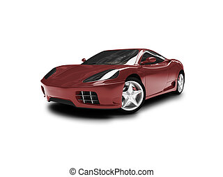 isolated redk super car front view 01