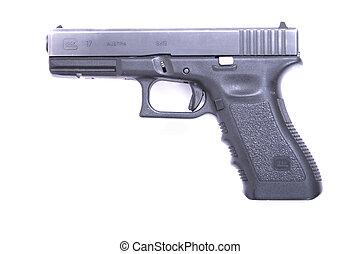 hand gun - nice hand gun isolated on the white background
