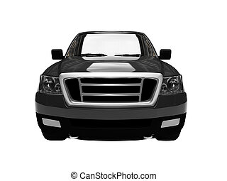 FordF150 isolated black car front view 03 - isolated black...