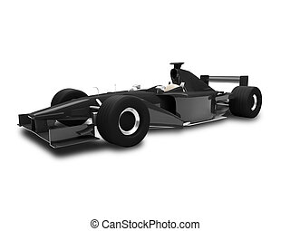 isolated speed car front view 02 - Isolated sport car