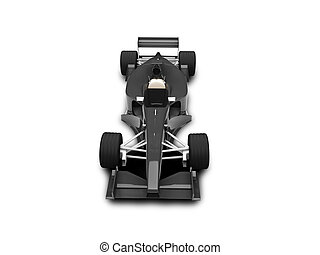 isolated speed car  front view 03 - Isolated sport car
