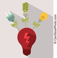 Energy Saving design over white background, vector...