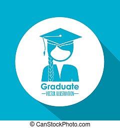 Occupations design over blue background, vector illustration