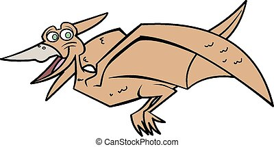 Pteradactyl Cartoon Character - This is a vector...