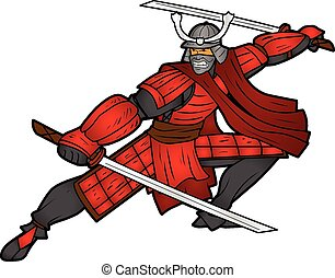 Samurai Character - This is a vector illustration of a...