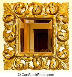 Golden mirror