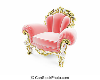 royal red velvet furniture - isolated red royal velvet...