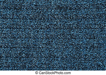 background - Close up picture of dark blue wool background