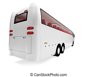 Future bus isolated view - Isolated future bus front view...