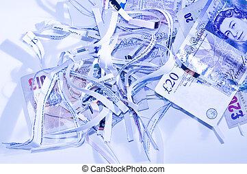 money shredded