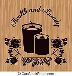 Spa center design over wood background, vector illustration