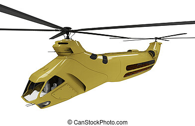 Future concept of helicopter isolated view