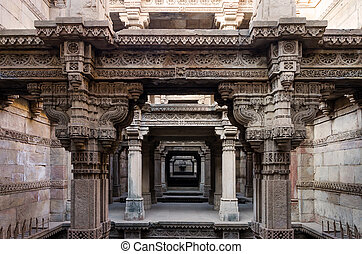 One Point Perspective at Adalaj Stepwell in Ahmedabad