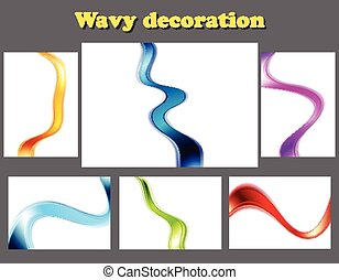Bright smooth wavy abstract backgrounds
