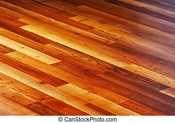 Laminate diagonal - Diagonal lines of laminated hardwood...
