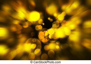 Yellow defocused color lights bokeh with texture background,...