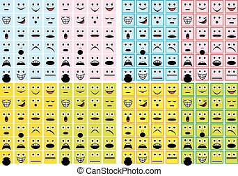 smiles collection  isolated on the white background