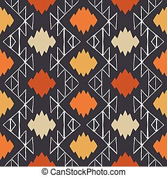 Vector navajo tribal ornament - Vector seamless ethnic...