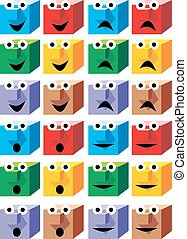 color cubes as smile collection