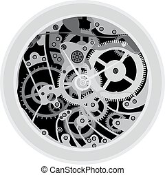 old watches  isolated on the white background
