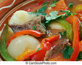 Philadelphia Pepper Pot - thick stew of beef tripe,...