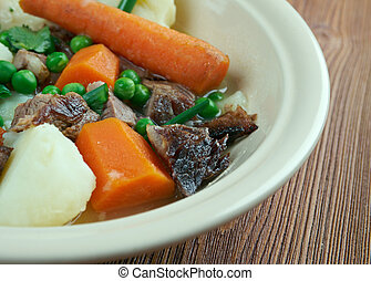 Navarin  - French ragoût (stew) of lamb or mutton.
