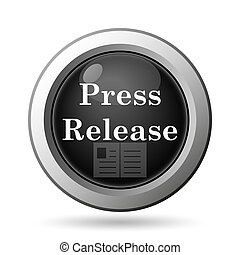 Press release icon Internet button on white background