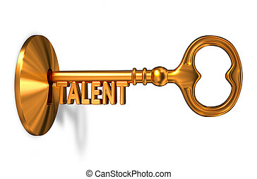 Talent - Golden Key is Inserted into the Keyhole. - Talent -...