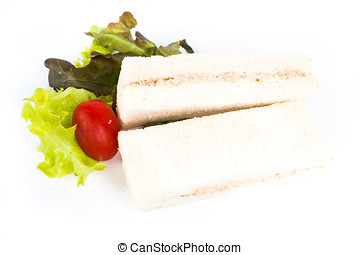 Sandwich on withe isolated background