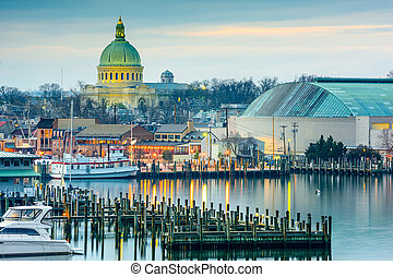 Annapolis on the Chesapeake - Annapolis, Maryland, USA town...