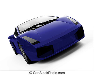 isolated closeup sportcar view - isolated closeup sport car...